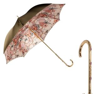 Зонт-трость Pasotti Oliva Jewels Penna Oro фото-1