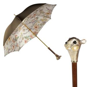 Зонт-трость Pasotti Oliva Campanula Scoiattolo Lux фото-1