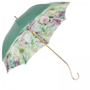 Зонт-трость Pasotti Verde Camelia Oro Dentel фото-3