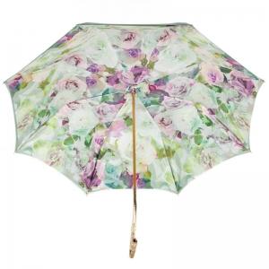 Зонт-трость Pasotti Verde Camelia Oro Dentel фото-4