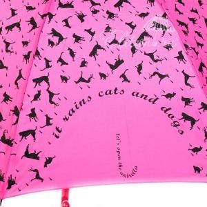 Зонт-трость Emme 364-LA Cats and Dogs Pink фото-4