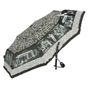 Зонт складной EMME M442-OC Cafe De Paris Black фото-2
