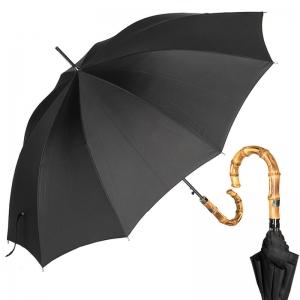Зонт-трость Ferre 3043B-LA Bamboo Black фото-1