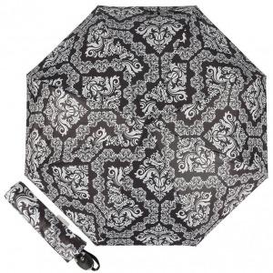 Зонт складной Ferre 6002-OC Pattern black фото-1