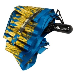 Зонт складной Ferre 357-OC Barroco Blu фото-4