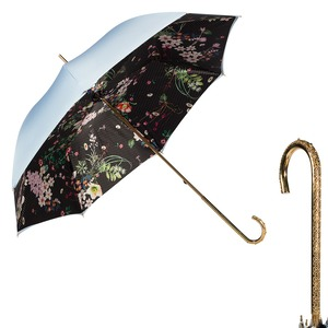 Зонт-трость Pasotti Sky Dots Flowers Oro Dentell фото-1