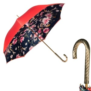 Зонт-трость Pasotti Rosso Magnolia Spring фото-1
