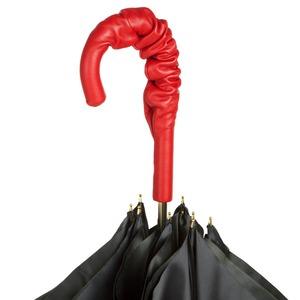 Зонт-трость Pasotti Nero Georgin Rosso Pelle фото-4