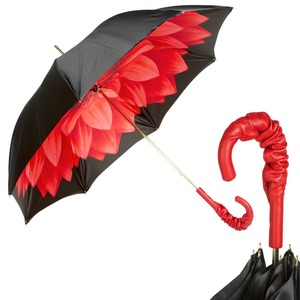 Зонт-трость Pasotti Nero Georgin Rosso Pelle фото-1
