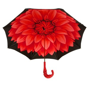 Зонт-трость Pasotti Nero Georgin Rosso Pelle фото-3