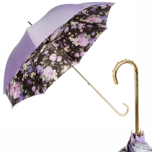 Зонт трость Pasotti Purpure Fiore Oro фото-1