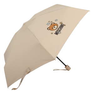 Зонт складной Moschino 8211-compactD Toy Stars Dark beige фото-2
