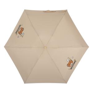 Зонт складной Moschino 8211-compactD Toy Stars Dark beige фото-3