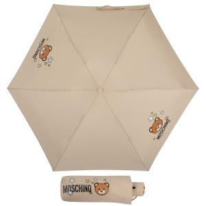 Зонт складной Moschino 8211-compactD Toy Stars Dark beige фото-1