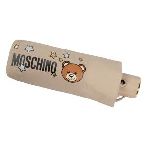 Зонт складной Moschino 8211-compactD Toy Stars Dark beige фото-5
