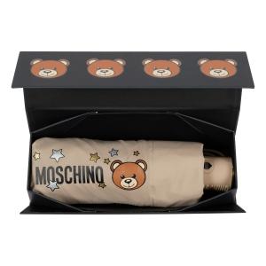 Зонт складной Moschino 8211-compactD Toy Stars Dark beige фото-6