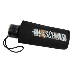 Зонт складной Moschino 8123-SuperminiA Toy Robot Black фото-4