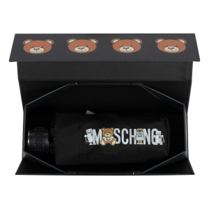 Зонт складной Moschino 8123-SuperminiA Toy Robot Black фото-5