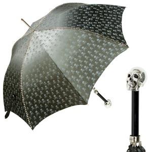Зонт-трость Pasotti Capo Silver Picco Sculls Grigio фото-1
