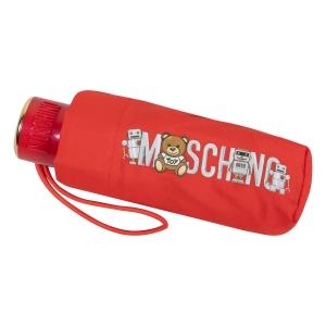 Зонт складной Moschino 8123-SuperminiC Toy Robot Red фото-4