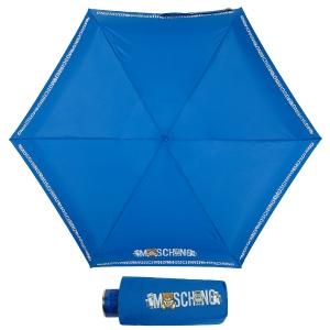 Зонт складной Moschino 8123-SuperminiF Toy Robot Blue фото-3