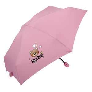 Зонт складной Moschino 8211-compactN Toy Stars Pink фото-2