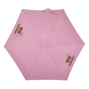 Зонт складной Moschino 8211-compactN Toy Stars Pink фото-3