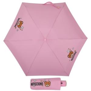 Зонт складной Moschino 8211-compactN Toy Stars Pink фото-1