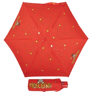 Зонт складной Moschino 8323-compactC Toy Constellation Red фото-1