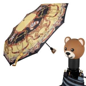 Зонт складной Moschino 8036-OCA Belts Bear Multi фото-1
