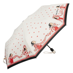Зонт складной Moschino 7961-OCI Olivia Scarves Cream фото-2