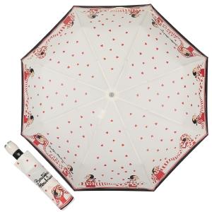 Зонт складной Moschino 7961-OCI Olivia Scarves Cream фото-1