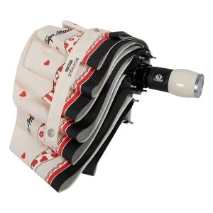 Зонт складной Moschino 7961-OCI Olivia Scarves Cream фото-4