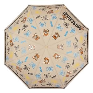 Зонт складной Moschino 8033-OCD Toy Spray Dark beige фото-3
