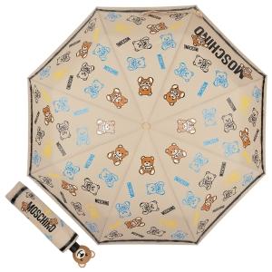Зонт складной Moschino 8033-OCD Toy Spray Dark beige фото-1