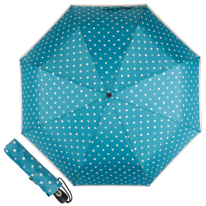 Зонт складной Pierre Cardin 82297-OC Blue Dots Crema фото-1