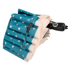 Зонт складной Pierre Cardin 82297-OC Blue Dots Crema фото-4