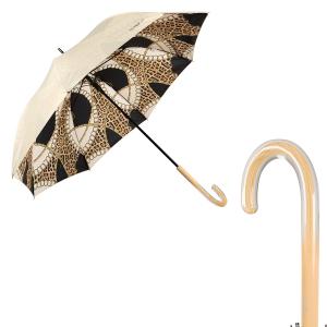 Зонт-трость Ferre 6001-LA Catena Animal Crema фото-1