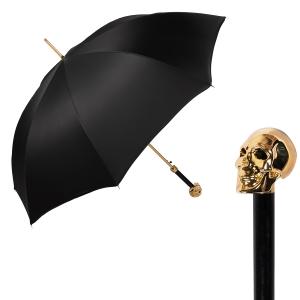 Зонт-трость Pasotti Capo Gold Oxford Black фото-1