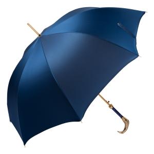 Зонт-трость Pasotti Pesce Gold Oxford Blue фото-4