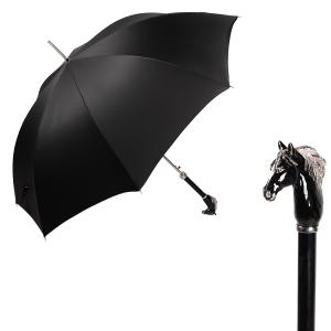 Зонт-трость Pasotti Cavallo Oxford Black фото-1