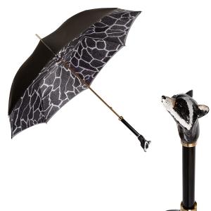 Зонт-трость Pasotti Becolore Beige Procione Lux фото-1