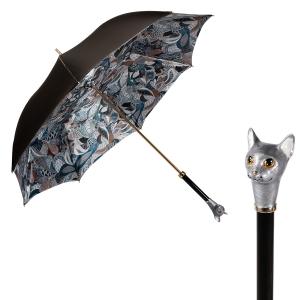 Зонт-трость Pasotti Becolore Biege Petalo Cat Lux фото-1