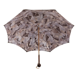Зонт-трость Pasotti Marrone Lettere Globe Legno фото-4