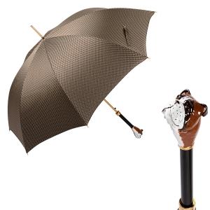 Зонт-трость Pasotti Bulldog Pepita Beige фото-1