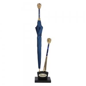 Зонт-трость Pasotti Leone Gold Oxford Blu фото-5