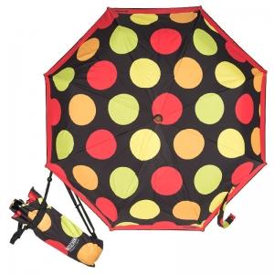 Зонт складной Moschino 417-OCA Maxi Pois Black фото-1