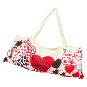 Зонт складной Moschino 7007-OCI Olivia Hearts Beige фото-4