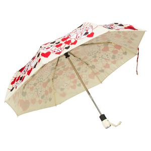 Зонт складной Moschino 7007-OCI Olivia Hearts Beige фото-3