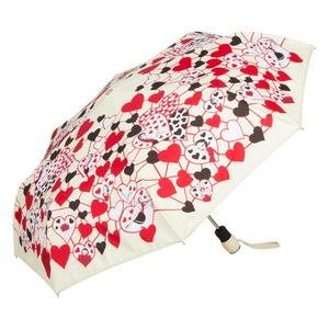 Зонт складной Moschino 7007-OCI Olivia Hearts Beige фото-2